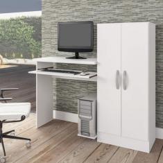 Imagem de Mesa Para Computador Com Armário 2 Portas Irlanda Atualle Móveis  Fosco