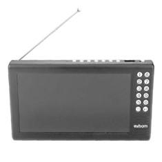 """TV LCD 7"""" Exbom Portatil MTV-70A Cartão de Memória USB"""