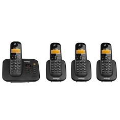 Telefone sem Fio Intelbras com 3 Ramais Secretaria Eletrônica TS3130 + 3