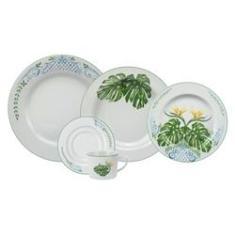 Imagem de Conjunto de Jantar e Chá 20 Peças Tropical Porcelana Schmidt