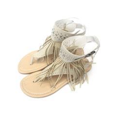 Imagem de Sandálias femininas de verão chinelos de dedo do pé aberto sapatos baixos borlas Sandálias de strass
