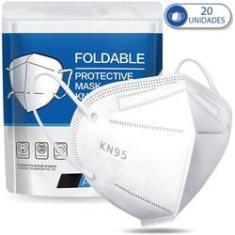 Imagem de Kit 20 Máscaras Descartáveis KN95 PFF2  com Clip Nasal e Elástico Auricular