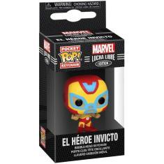 Imagem de Funko Pop! Chaveiro: Marvel Luchadores - Homem De Ferro