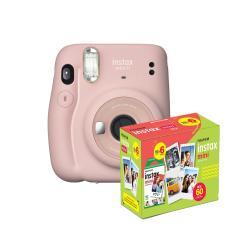 kit Câmera Instantânea Fujifilm Instax Mini 11 Rosa + Filme com 60 Fotos