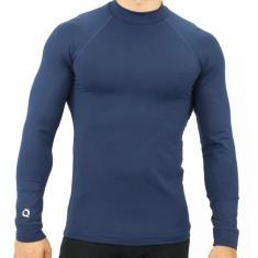 Imagem de Camiseta UV Masculina Proteção Solar Manga Longa Fitness  Marinho