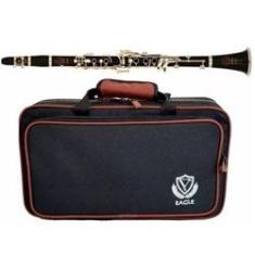 Clarinete Eagle Cl04n Sib Niquelado 17 Chaves Case Luxo