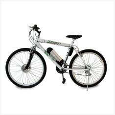 Bicicleta Elétrica TecBike 18 Marchas Aro 26 Suspensão Dianteira Freio V-Brake M2 Tec-City