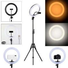 Imagem de Iluminador Led Ring Light 14 Polegada 35w Com Tripé 2,10