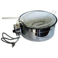 Imagem de Fritadeira Eletrica Com Tacho Esmaltado Branco 3,5 220 V