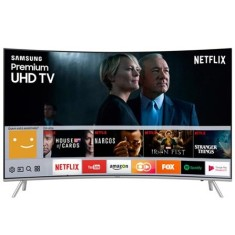 "Smart TV TV LED 55"" Samsung Série 7 4K HDR Netflix UN55MU7500 4 HDMI"