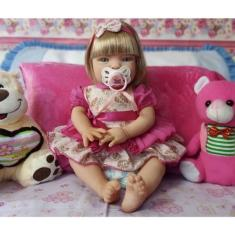 Imagem de Boneca Bebê Reborn Loira Linda Em Promoção Especial - Kaydora Brinquedos