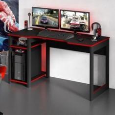 Imagem de Mesa Para Computador Gamer Tecno Mobili ME4152 2 Prateleiras