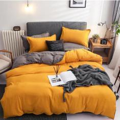 Imagem de Jogo de cama solteiro completo 7 peças com edredom sun grey