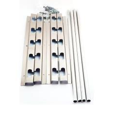 Imagem de Suporte Inox Churrasqueira 5 Posições E 4 Tubos Alumin 60Cm