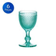 Imagem de Conjunto 6 Taças de Vidro Bico de Jaca 255ml-Bon Gourmet - Transparente