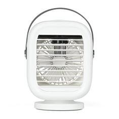 Ar-Condicionado Portátil com Alça, Mini Ventilador Pessoal de 3 Velocidades Ventilador de Resfriamento Umidificador de Mesa para Escritório em Casa