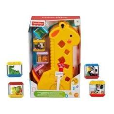 Imagem de Girafa Com Blocos Fisher-price Girafinha De Encaixe Didático