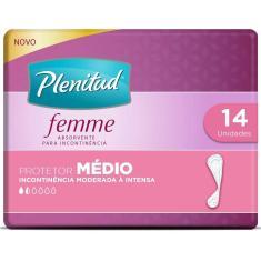 Imagem de Protetor Diário Plenitud Femme Médio com 14 Unidades 14 Unidades