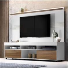 Imagem de Rack com Painel para TV até 60 Polegadas Samba Espresso Móveis Off White/Nogueira