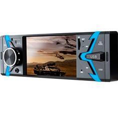 Imagem de Multilaser Som Automotivo Groove Tela 4 Pol. 1 Din Bluetooth Mp5 4X45Wrms Rádio Fm + Entrada Cartão Sd + Usb + Aux App - P3341