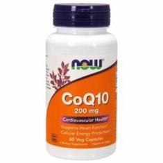 Imagem de Coenzima Q10 200 mg Now Foods 60 Capsulas - Original & Importado - Imunidade , ansiedade, digestão