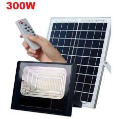 Imagem de Kit Solar Placa Refletor 300W Energia Controle Remoto Led