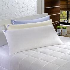 Imagem de Travesseiro Toque de Pluma Agarradinho Fibra Siliconizada 50x90 - Percal 233 Fios - Plumasul