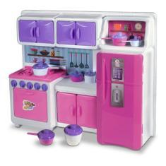 Imagem de Kit Armários Geladeira Fogão Cozinha Infantil Completa