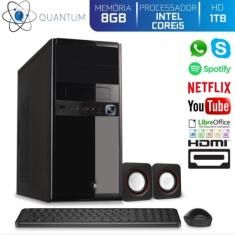 Imagem de PC Quantum 28623 Intel Core i5 8 GB 1.000 Linux Áudio
