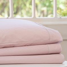 Imagem de jogo de cama casal scavone 200 fios 100% algodão básico stripes