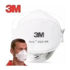 Kit 10 Unid Máscara 3m Aura Pff-2 N95 9320 Branca