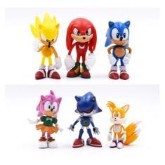 Imagem de Boneco Sonic Kit Com 6 Personagens Promoção