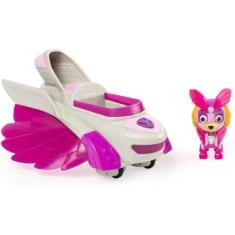 Paw Patrol, Mighty Pups Charged Up Skye's Deluxe Vehicle With Lights And Sounds, Multicolor