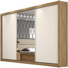 Guarda-Roupa Casal 3 Portas 6 Gavetas com Espelho Toronto 1E Europa Móveis