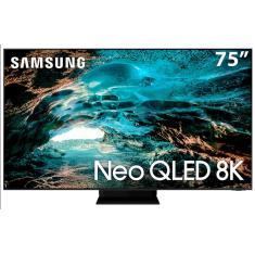 "Imagem de Smart TV QLED 75"" Samsung 8K HDR QN75QN800AGXZD 4 HDMI"