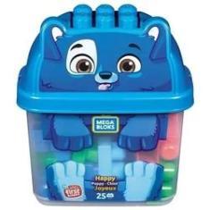 Imagem de Mega Bloks Balde Cachorro C/25 Blocos Fisher Price - Mattel