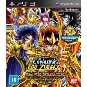 Jogo Os Cavaleiros do Zodíaco: Bravos Soldados PlayStation 3 Bandai Namco