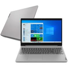 "Notebook Lenovo IdeaPad 3i 82BS0006BR Intel Core i3 10110U 15,6"" 4GB SSD 256 GB 10ª Geração"