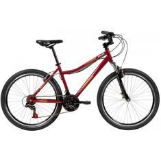 Bicicleta Caloi 7 Marchas Aro 26 Suspensão Dianteira Freio V-Brake Rouge