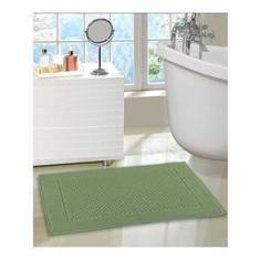 Imagem de Toalha de piso felpudo Prime liso verde 50x70 - Dohler