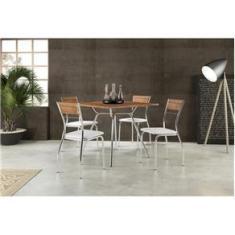 Imagem de Conjunto Sala de Jantar Carraro Verona com mesa e 4 cadeiras