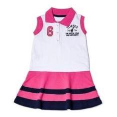 Imagem de Vestido Infantil Gola Polo Toffee