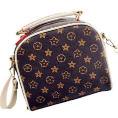 Imagem de Vintage Floral Impresso Mulheres Único Shoulder Bag Lady Feminino Pu Couro Crossbody Bag
