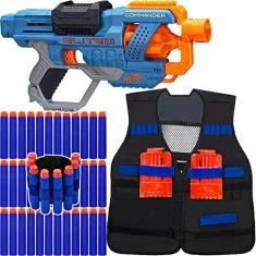 Imagem de Arma Nerf Disruptor + Colete Infantil + Pulseira + 30 Dardos de Brinquedo