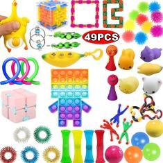 Imagem de 31/39/40/49pcs Poppet Fidget Toy Pop It Toy Rainbow, Barato