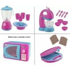 Imagem de Cozinha Infantil Micro-ondas Liquidificador E Batedeira