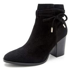 Imagem de Bota feminina com zíper até o tornozelo, 5 cm, bico fino, salto grosso, bota jeans diária, , 6
