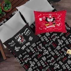 Imagem de Kit Enxoval Mickey e Minnie Lençol de Casal com 2 Fronhas