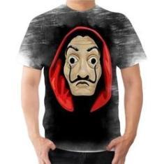 Imagem de Camiseta Camisa Dali Tema La Casa De Papel Série Ladrões 02