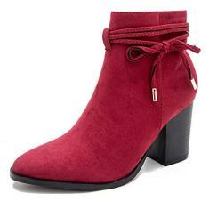 Imagem de Bota feminina com zíper até o tornozelo, 5 cm, bico fino, salto grosso, bota jeans diária, , 10